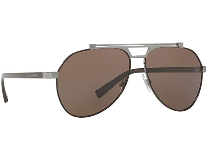 b1931e170689 Image Unavailable. Image not available for. Colour  Dolce   Gabbana VIALE  PIAVE DG 2189 RUTHENIUM BROWN BROWN men Sunglasses