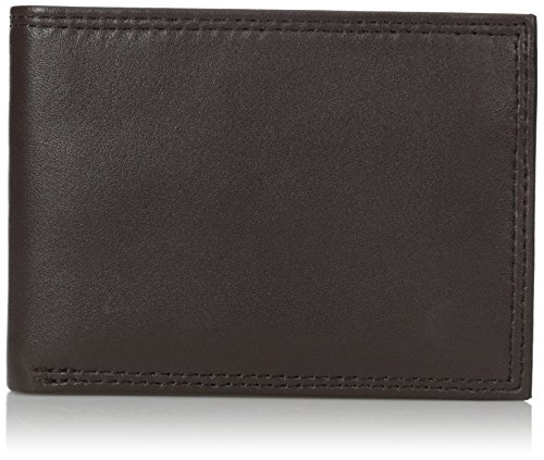 Buxton Men's Emblem Double Id Billfold Wallet, Brown, One Size ()