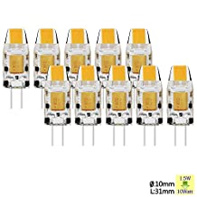 Sunix 1.5W G4 COB LED Bulbs,15W Halogen Bulbs Equivalent£¬ 110lm, Dimmable, Warm White, 3000K, 360 Degree Beam Angle, Crystal Spotlight Bulb, Pack Of 10 Units [Energy Class A] SU127
