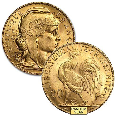 France Gold Coin - 1899 FR -1914 France Gold Rooster 20 Francs Brilliant Uncirculated