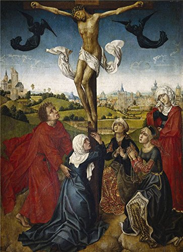 Oil Painting 'Maestro De La Leyenda De Santa Catalina La Crucifixion End Of 15 Century', 18 x 25 inch / 46 x 63 cm , on High Definition HD canvas prints, gifts for Foyer, Game Room And Gym Decoration