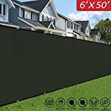 Upgrade Privacy Fence Screen 6′ x 50′ Fence Screen Shade with Heavy Duty Commercial Grade for Home Protection & Privacy – Dark Green Review