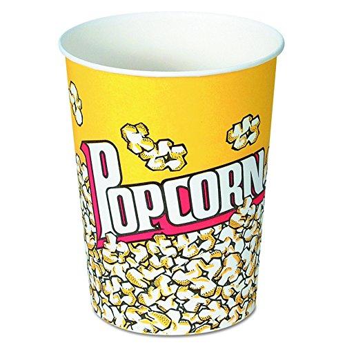 SOLO V32-00061 Treated Paper Popcorn Cup, 32 oz. Capacity, Popcorn Print (Case of 500) (Popcorn Print)