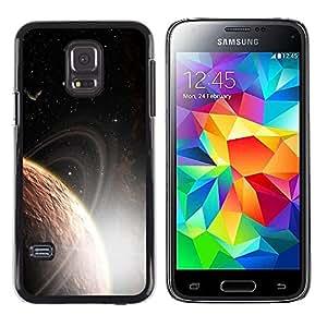 Orbit Shinning Invicible - Metal de aluminio y de plástico duro Caja del teléfono - Negro - Samsung Galaxy S5 Mini (Not S5), SM-G800