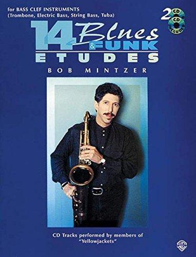 14 Blues & Funk Etudes: Bass Clef Instrument (Trombone, Electric Bass, String Bass, Tuba), Book & 2 CDs
