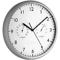 TFA TFA98.1072 Duvar Saati Termometre Nem Ölçer, Siyah