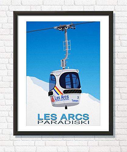 (Steve Ash illustration Les Arcs Ski Resort Wall Art Poster (50cm x 70cm))