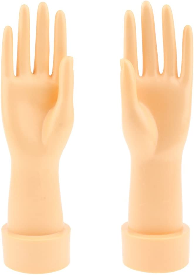 Homyl Set of 2 Pcs Left Right Mannequin Hand Shop Counter Jewelry Display Stand