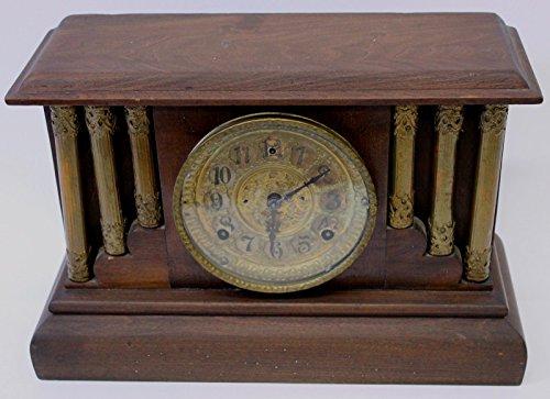 Old American 1909 Wood Chime Mantle Clock / Antique Clock / Vintage ()