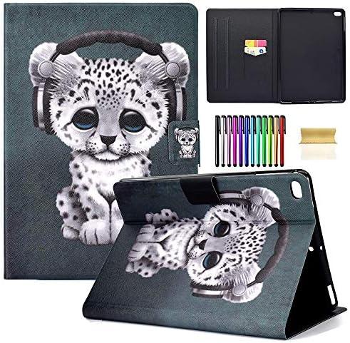 Leopard Leather Folio Smart Wallet
