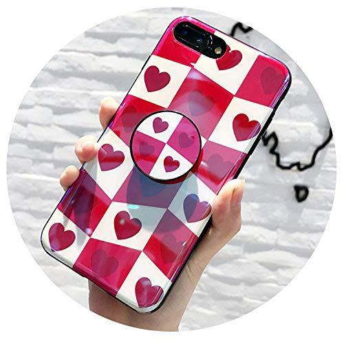 Mystery Gift iPhone 7 Case X 6 6S 8 Plus Silicone Desk Stand Ring Holder Phone Cases Cute Soft Back Cover,Blue Holder,for Plus,onlybluecase,for 6plus 6splus,