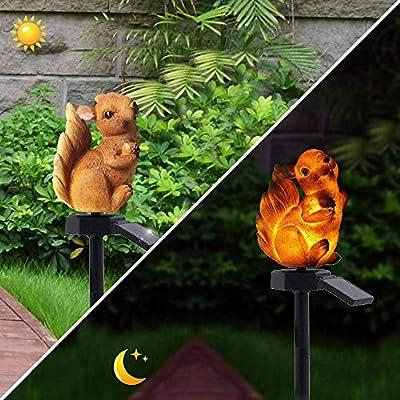 Solar Power Garden Lawn Light Squirrel Shape Landscape Lamp Outdoor Waterproof