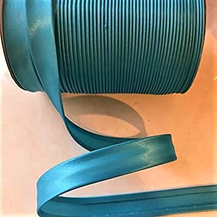 Teal Blue 12 Yards 5//8 inch Single Fold Satin Bias Tape 23 Different Colors