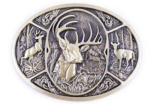 The Jungle Buck Design Cowboy Belt buckle (Golden)