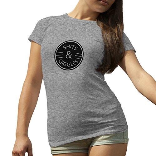 Shits Giggles Google T-Shirt camiseta para la Mujer Gris