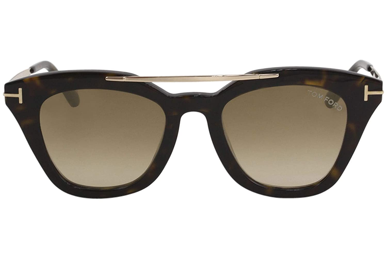 9529a172c7ca6 Sunglasses Tom Ford FT 0575 Anna- 02 52G dark havana   brown mirror at  Amazon Men s Clothing store