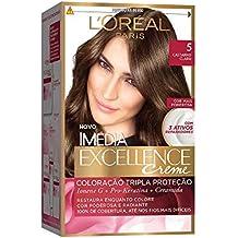 Coloração Imédia Excellence, L'Oréal Paris, 5 Castanho Claro