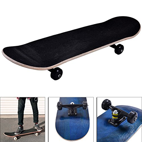 Blank Complete Skateboard Stained BLUE 7.75 Skateboards,Blue Ready to ride