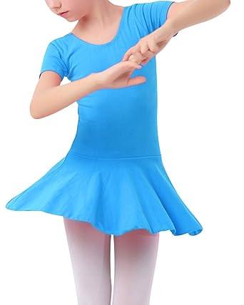 Mengmiao Vestido Ballet para Niña Danza Gimnasia Falda Corta ...