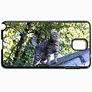 Customized Cellphone Case Back Cover For Samsung Galaxy Note 3, Protective Hardshell Case Personalized Cat Red Package Black