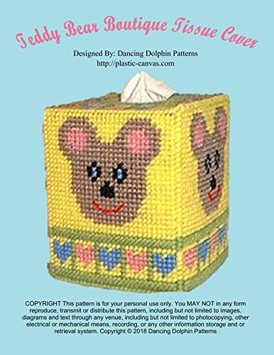 Teddy Bear Boutique Tissue Cover: Plastic Canvas Pattern