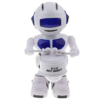 MagiDeal Electronic Smart Dancing Astronaut Robot With Flash Light Music Kids Educational Toy Birthday Gifts Drummer1 Electronics