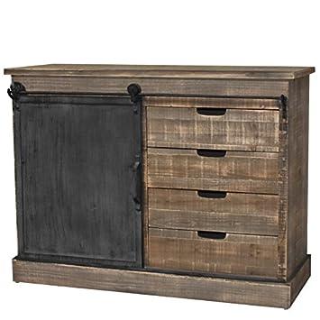 bahut console commode meuble cuisine salon bois fer campagne industriel