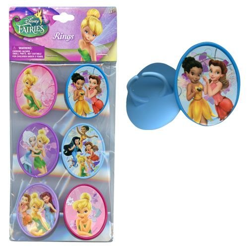 Disney 6pk Fairies Cupcake Topper Rings