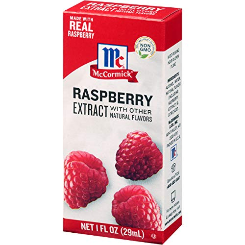 McCormick Raspberry Extract With Other Natural Flavors, 1 oz. (Pack of 6)