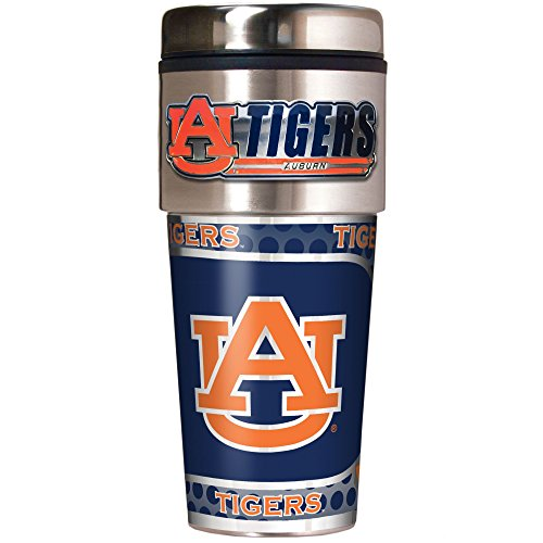 NCAA Auburn Tigers Metallic Travel Tumbler,  - Auburn Merchandise Tigers