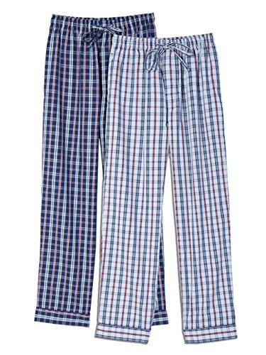 - Mens Premium Cotton Lounge Pants - 2p [University Plaid] - Xlarge
