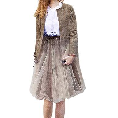 Anjuley - Falda de tutú para Mujer de Doble Capa, Color de ...