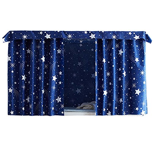 FANCY PUMPKIN Simple Dormitory Bunk Bed Curtains Dustproof Bedroom Curtains Shading Cloth, C-07