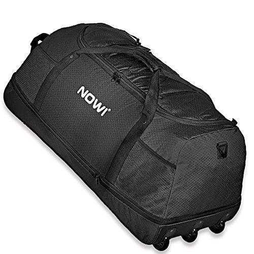 Nowi XXL Riesen Reisetasche mit 3 Rollen Volumen 100-135 Liter Rollenreisetasche 81 cm black