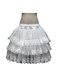 DZdress Kids Puffy Petticoat Ballet Flower Girl Underskirt Crinoline Tutu Skirts