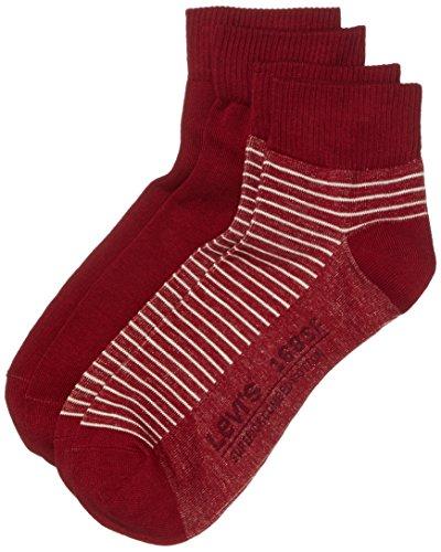 Cut 168sf da Levi's 2p Calzini rosso Stripe Mid uomo Red Levis Cqttf