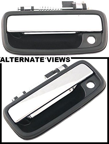 APDTY 879NY Exterior Door Handle Front Left (Driver) Black With Chrome Lever 1995-2004 Toyota Tacoma/ 2004-2012 Hilux (Mexico Region) Replaces 69220-35030,6922035030