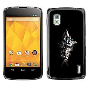 Be Good Phone Accessory // Dura Cáscara cubierta Protectora Caso Carcasa Funda de Protección para LG Google Nexus 4 E960 // Abstract Junk Fish Sculpture