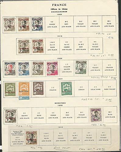 French Offices, Postage Stamp, Page, China, Kwangchowan, Mongtseu, JFZ