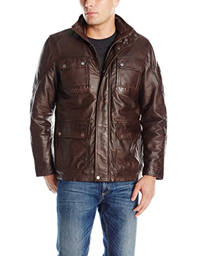 Boston Harbour Vintage Men's 3/4 Field Jacket with Washed...