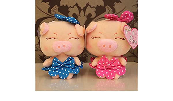 Amazon.com: Aliexpress new 12 seconds recording boxed spot bow pig plush toys pig wholesale lovely sounding pp cotton soft toy kids dolls: Baby