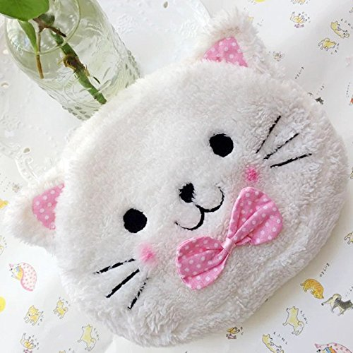 Cute Lovely Soft Plush Cat Case Bag in Bag Cosmetic Makeup Bag Pouch