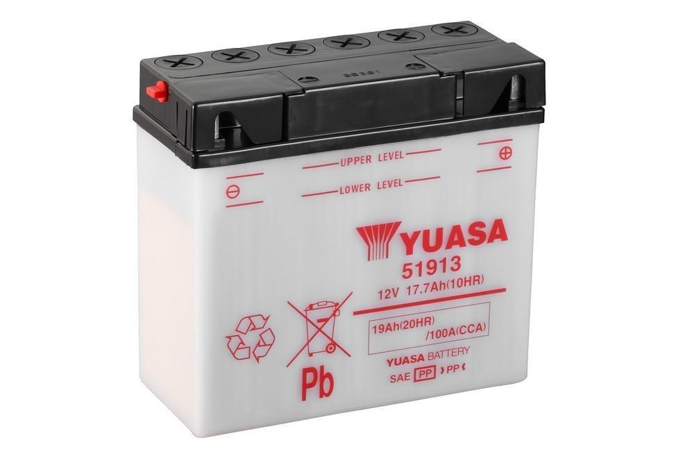 Batteria YUASA 51913 per BMW R80/G//S ANNO 1981 12/V//19ah dimensioni: 186/X 82/X 171