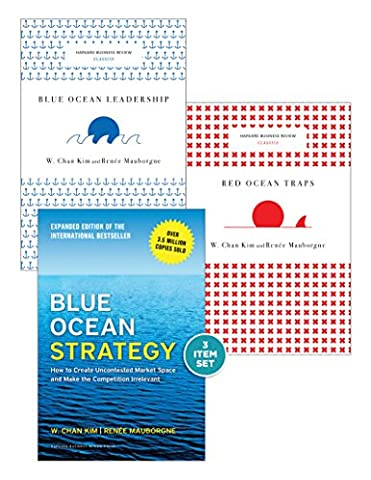 """Blue Ocean Strategy with Harvard Business Review Classic Articles """"Blue Ocean Leadership"""" and """"Red Ocean Traps"""" (3 (Blue Ocean Strategy)"""