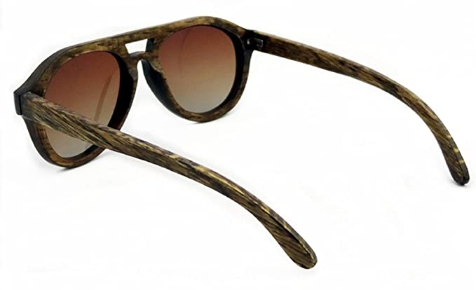 SHINU Polarisierten Sonnenbrillen Handarbeit aus Holz Brillen Gegen UV400 Objektive Sonnenbrillen-Z6140(red sandalwood, gradient brown)