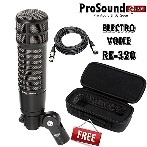 Electro Voice RE320 Dynamic Microphone - Free Mic Bag and XLR cable 15ft (ProSoundGear) Authorized Dealer