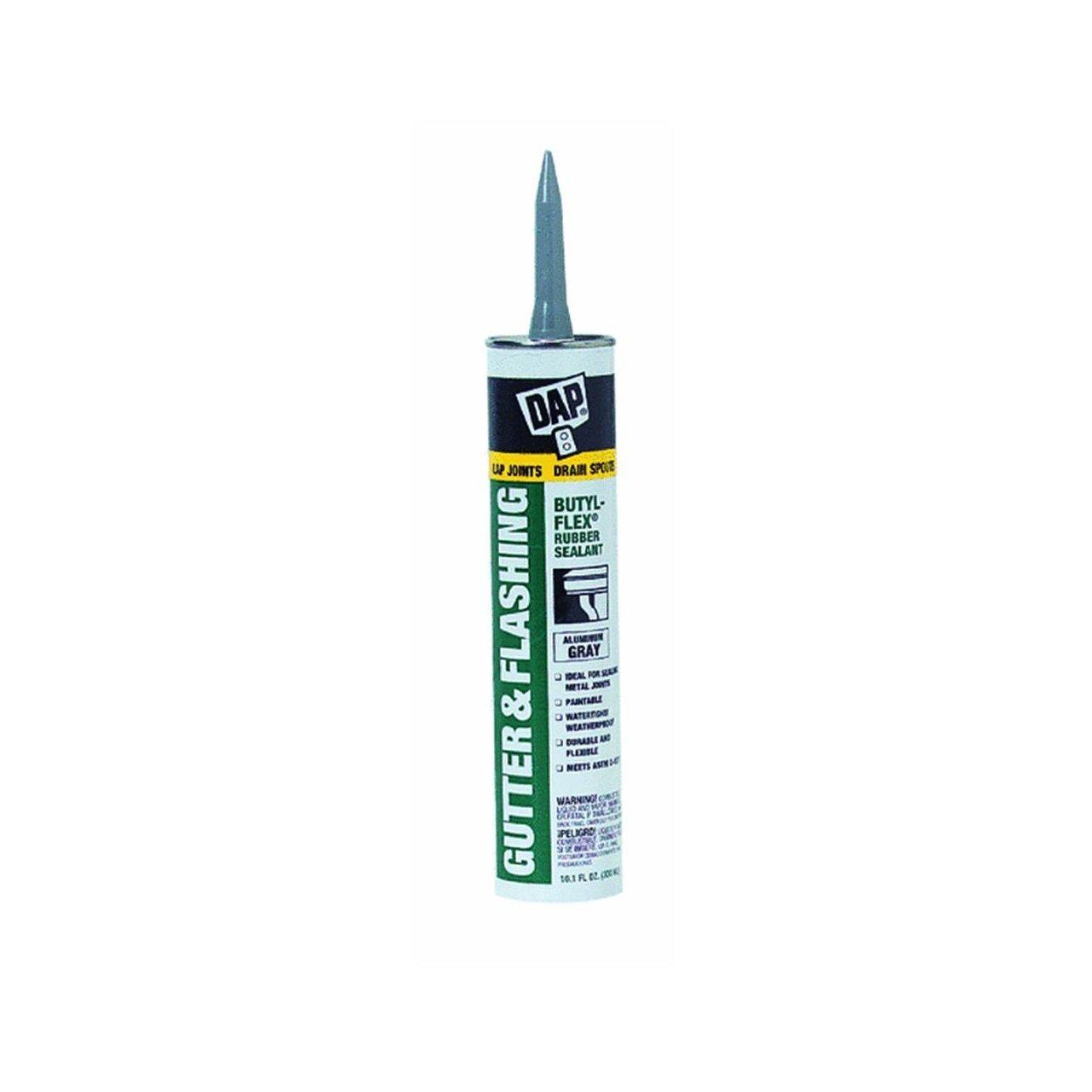 Dap 18188 12 Pack 10.1 oz. Butyl-Flex Gutter and Flashing Sealant, Aluminum Gray