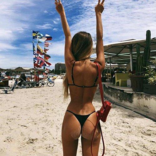 Imbottito Laccio Costume Bikini bagno Donne Mutande Set stringa Costumi da feiXIANG® G Balneare Push Reggiseno Stampa Sexy Mare Swimwear del Benda bagno Nero d'onda punto da up Sy0qTwrfYq