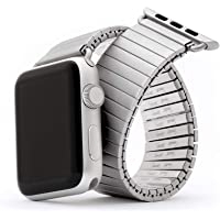 Speidel's Infamous Twist-O-Flex stainless steel expansion watchband compatible for use with the Apple watch series 1,2,3…