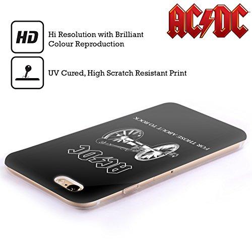 Officiel AC/DC ACDC Pour Ceux Étant Sur Le Point Rock Titres De Chanson Étui Coque en Gel molle pour Apple iPhone 4 / 4S